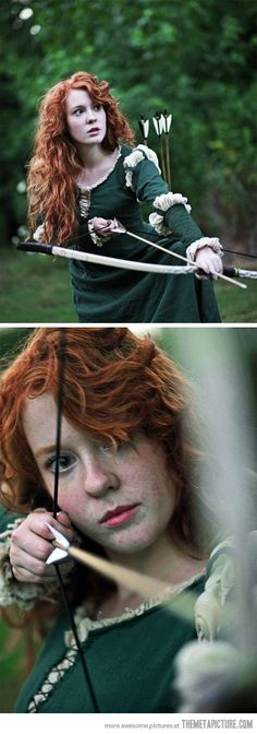 Brave's Merida in real life… I want to dye my hair red now