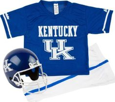 Kentucky Wildcats Kids/Youth Football Helmet And Uniform Set by Franklin. $47.03