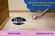 Welcome to Quality Air Care, Your carpet's dry soil is removed with our powerful truck-mounted vacuum system. This way, as much of the dry soil as possible will be removed before cleaning. For more info, call: or visit our website. Clean Air Ducts, Air Care, Duct Cleaning, Delray Beach, Cleaning Service, How To Clean Carpet, South Florida, Vacuums, Truck