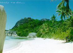 A mi chico le pareció que había demasiada gente en esa playa#Molyvade...#viaje #Seychelles #RelaisChateau  molyvade.blogspot.com