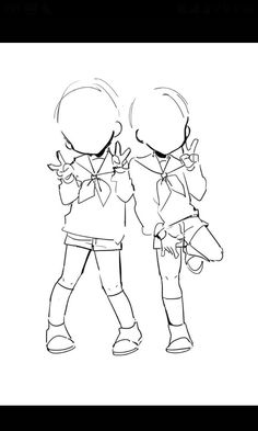 Ideas drawing reference poses group for 2019 Drawing Base, Manga Drawing, Chibi Drawing, Baby Drawing, Anime Drawings Sketches, Cute Drawings, Drawing Templates, Drawing Tutorials, Drawing Tips