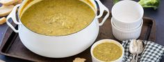 Broccoli potato soup This hearty soup not only tastes great, but it's easy to make!