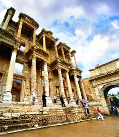 Library of Celsus.  Taste of Turkey - Discount Vacation Packages by Friendly Planet Travel