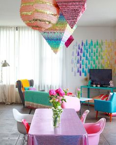Amina Mucciolo, aka Studio Mucci, is living a colorful life. At least her apartment is.