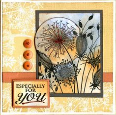 Woodware stamp - Going to Seed Card Making Inspiration, Pretty Cards, Stamping Up, Flower Cards, Greeting Cards Handmade, Cardmaking, Birthday Cards, Just For You, Paper Crafts