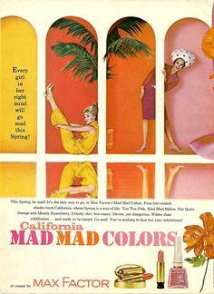 Vintage Max Factor Color Advertisement