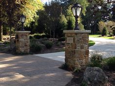 Awesome pillars and landscaping