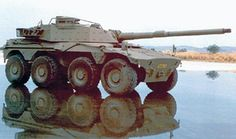 South African Rooikat armoured car fitted with an experimental 105 mm gun. Army Vehicles, Armored Vehicles, Bugatti Models, Tank Destroyer, Armored Fighting Vehicle, Ww2 Tanks, Battle Tank, Military Weapons, Military Equipment