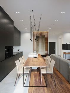 #Match pendant lamp at an apartment in Kiev. Interiors by Anton Medvedev http://www.vibia.com/en/match-hanging-lamps-hanging/?utm_source=&utm_medium=pinterest&utm_campaign=kiev_apart_match_prj&utm_content=utm_term=