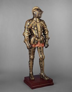 Armor Garniture of George Clifford (1558–1605),  Third Earl of Cumberland www.metmuseum.org