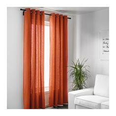 MARIAM Curtains, 1 pair, orange orange 57x98