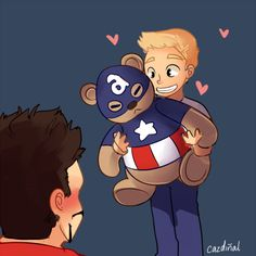 """12 DAYS OF STEVETONY DAY 7: GIFT "" Steve: Saw this gift in stores, thought I'd give you something to cuddle with, right?"