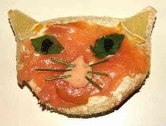Cat sandwich with smoked salmon