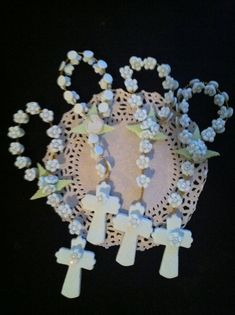 First Communion Favors, Mini Rosary Baptism Favor, Baptism favor, Religious Mini Rosary, White Rosaries, First Communion Mini Rosaries Favor on Etsy, $21.99