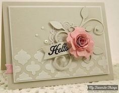 Image result for die cut handmade christmas card