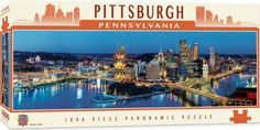 Photo Master Pieces 71589 - Pittsburgh  - 1000 pieces panoramic jigsaw puzzle 1