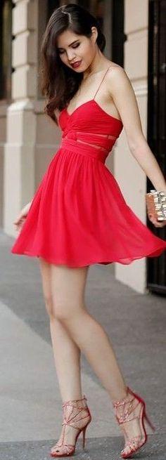 #summer #elegant #feminine | Little Red Dress
