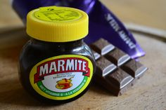 Marmite and Cadburys Dairy Milk Chocolate - favourite foods, but not necessarily together!
