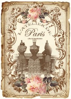 JanetK.Design Free digital vintage printable: Paris