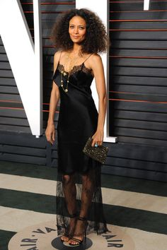 Pin for Later: Voilà Ce Que les Célébrités Ont Fait à L'afterparty des Oscars Thandie Newton