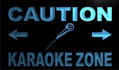 Caution Karaoke Zone Neon Light Sign