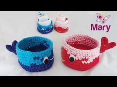 Cestini balena   basket crochet - YouTube Baby Shoes, Basket, Crochet, Kids, Flower, Youtube, Yarn Crafts, Crochet Baskets, Mesh