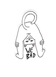 #1863 Rip N Dip Cat ripndip We Bad , 8x5 cm decal sticker