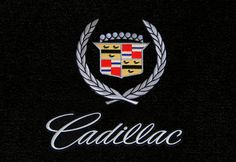 817002 1 Vintage Wreath And Crest Silver Cadillac