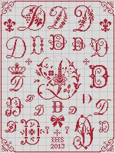 Cross Stitch Alphabet Patterns, Disney Cross Stitch Patterns, Cross Stitch Letters, Cross Stitch Samplers, Cross Stitch Charts, Cross Stitch Designs, Cross Stitching, Cross Stitch Embroidery, Hand Embroidery