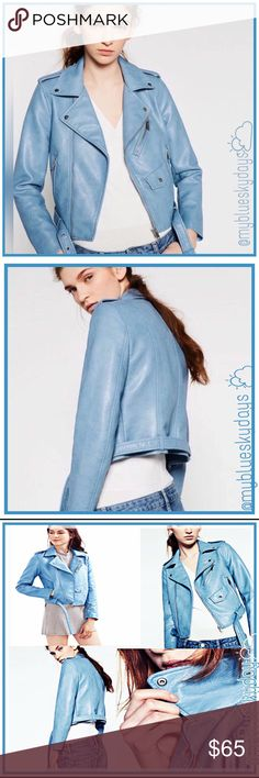 🍂Gorgeous Blue Motto Jacket🍂 Gorgeous Blue Moto Jacket! Soft and comfy, yet much thicker than mine that's a year or two old! Hard to believe it's 100% Vegan! It will keep you warm & cozy!! I searched a long time to bring you a jacket of high quality at a great price! Please note this jacket runs small, order a size up, two if your close to the next size up!! Only one available at this time! Size med/small! Thanks 😊✌🏽️💖 @myblueskydays Jackets & Coats