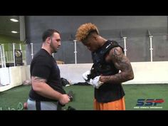 SSP training with NFL wide receiver Thomas Mayo