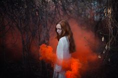photo goddess fog smoke dreamy color light woman - Cerca con Google