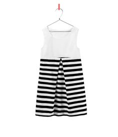 Image 1 of STRIPED COMBINATION DRESS from Zara