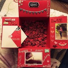Valentine's Day Care Package Ideas for Your Far Away Love - DIY Gifts Wedding Ideen Valentines Presents For Boyfriend, Valentines Day Care Package, Diy Valentines Day Gifts For Him, Bday Gifts For Him, Surprise Gifts For Him, Thoughtful Gifts For Him, Cute Boyfriend Gifts, Valentine Day Boxes, Valentines Diy