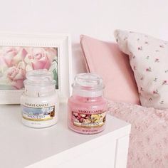 Pink Interior Love Flower Candle
