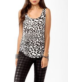 Twisted Striped Cheetah Tank | FOREVER21 - 2000046556