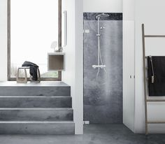 The Danani AIR niche shower solution with single door for small shower cubicles. Bathroom Furniture, Shower Cubicles, Cubicle, Single Doors, Small Showers, Danish Design, Bathroom, Inspiration, Craftsmanship