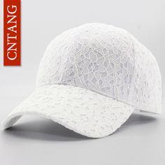 137d61407e7 CNTANG Brand Summer Lace Hat Cotton Baseball Cap For Women Breathable Mesh Girls  Snapback Hip Hop
