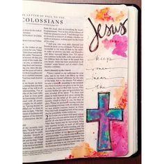 @bekahblankenship Instagram photos | Websta Scripture Art, Bible Art, Bible Verses, Scriptures, Bible Study Journal, Scripture Journal, Art Journaling, Book Of Colossians, Bible Illustrations