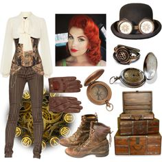 """""""Steampunk Merida"""" by lost-in-translation226 on Polyvore"""