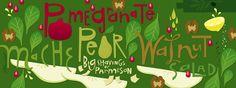 Pomegranate & Pear Salad by Salli S. Swindell