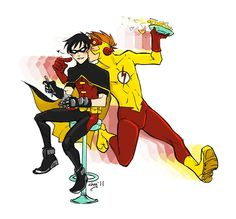 Young Justice - Dick Grayson  x Wally West- Birdflash