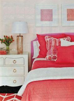 Coral Bedroom #Colors