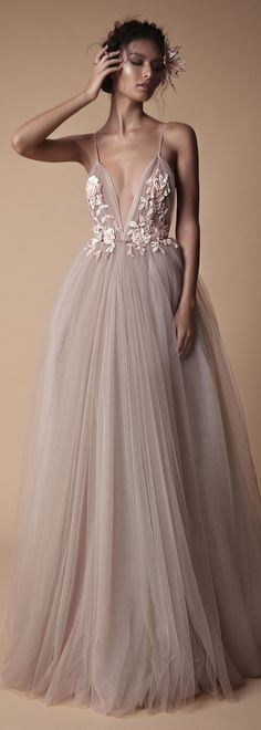 Tulle wedding dress for a true nymph.