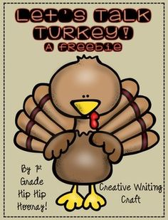 "November is the perfect time to ""talk turkey"" and get the kiddos thinking outside the box.This freebie does just that encouraging creative writing.The packet contains:Turkey CraftIf I were a turkey...From a turkey's point of viewTurkey Talk...poem and activityWe're Thankful for ...making a listVisit this site to see specific examples and learn more about this product.Enjoy!"