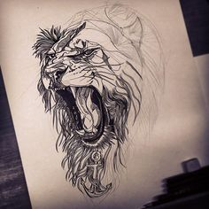 Drawin-a-Day: 11 - Finishing a lion commission