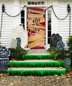 Keep Out Spooky Halloween Porch