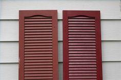 to Repaint Plastic ShuttersHow to Repaint Plastic Shutters Kitchen Shutters, House Shutters, Diy Shutters, Interior Shutters, Wooden Shutters, Repurposed Shutters, Bedroom Shutters, White Shutters, Color