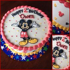 Mickey Mouse buttercream birthday cake