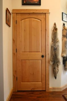 alder cabinets and walnut floors | Solid and sound deadening knotty alder doors with Emtek knobs & Stained Knotty Alder doors u0026 trim. So rustic | My Country Life ... pezcame.com